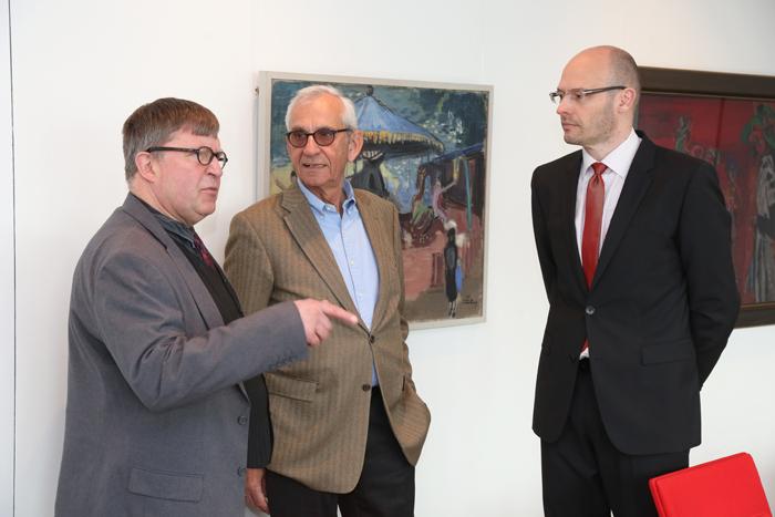 Rainer Becker (Deutsche Kinderhilfe e.V.), Helge Adolphsen (ehem. Hauptpastor St. Michaelis) und Marcus Buschka (Haspa Hamburg Stiftung); Pressekonferenz zur GrŸündung der Yagmur GedäŠchtnisstiftung
